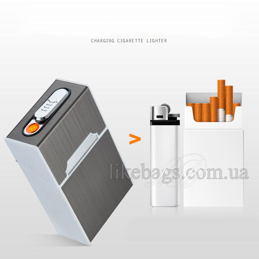 купить портсигар с зажигалкой на 20 сигарет